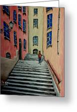 Back Street In France Greeting Card