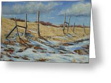 Back To Open Range Greeting Card by Debra Mickelson