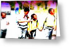 Back To School In Soweto  Greeting Card