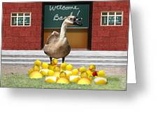Back To School Little Duckies Greeting Card