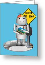 Back To School Little Robox9 Greeting Card