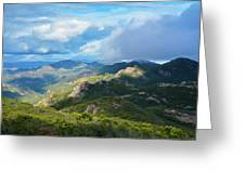 Backbone Trail Santa Monica Mountains Greeting Card