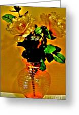 Backlit Roses Greeting Card