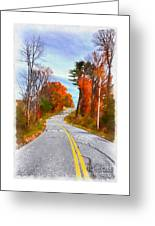 Backroads Vermont Greeting Card