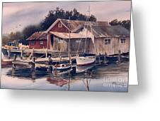 Backwater Fish Shack Greeting Card