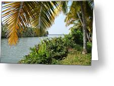 Backwaters Of Kerala-2 Greeting Card