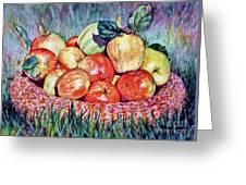 Backyard Apples Greeting Card