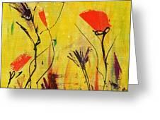Backyard Flowers 2 Greeting Card