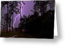Backyard Lightning Greeting Card