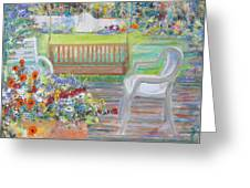 Backyard Porch Greeting Card