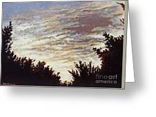 Backyard Sunset Greeting Card