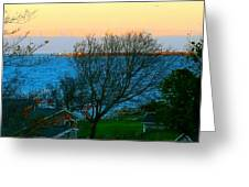 Backyard View In Autumn Greeting Card