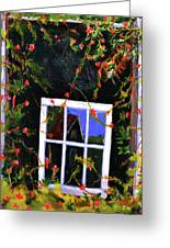 Backyard Window Greeting Card