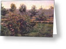 bacon garden landscape c1894 Henry Bacon Greeting Card