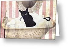 Bad Cat I Greeting Card