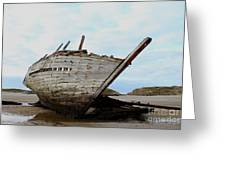 Bad Eddie's Boat Donegal Ireland Greeting Card