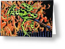 Bad Froggy In Hell Greeting Card
