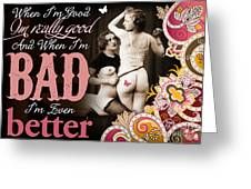 Bad Seven Greeting Card by Chris Andruskiewicz