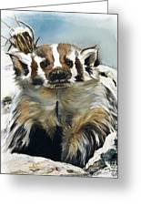 Badger - Guardian Of The South Greeting Card