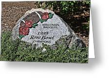 Badger Rose Bowl Win 1999 Greeting Card