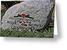 Badgers Rose Bowl Win 1994 Greeting Card