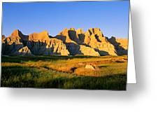 Badlands Buttes, South Dakota Greeting Card