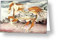 Badlands Horses Greeting Card