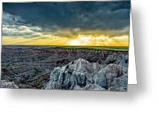 Badlands Np Pinnacles Overlook 2 Greeting Card