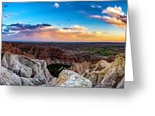 Badlands Np Pinnacles Overlook 3 Greeting Card