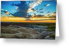 Badlands Np Wilderness Overlook 1 Greeting Card