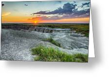 Badlands Np Wilderness Overlook 3 Greeting Card