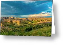 Badlands Np Yellow Mounds Overlook  Greeting Card