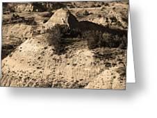 Badlands Sepia Greeting Card