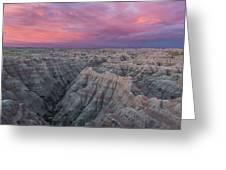 Badlands Sunrise Greeting Card