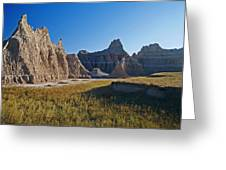 Badlands Sunset On Wihite Sandstpone Greeting Card