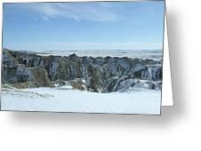Badlands Under Snow II  Greeting Card