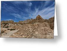 Badlands View From A Trail Greeting Card