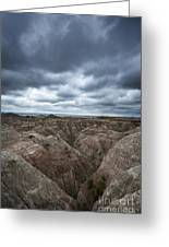 Badlands White River Valley  Greeting Card
