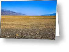 Badwater Basin In Death Valley Greeting Card