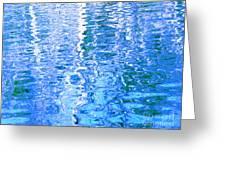 Baffling Blue Water Greeting Card