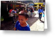Bag Helper In Baguio Greeting Card