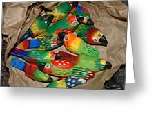 Bag Of Birds Greeting Card