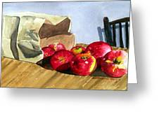 Bag With Apples Greeting Card