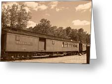 Baggage Car Greeting Card