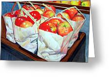 Bags Of Apples Greeting Card