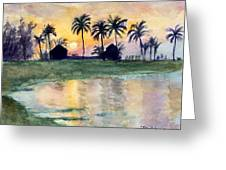 Bahama Palm Trees Greeting Card
