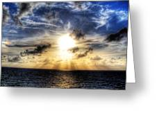 Bahama Sunset By Steve Ellenburg Greeting Card