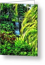 Bahamas - Tropical Waterfall Greeting Card