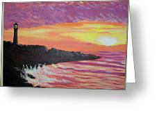 Bahia At Sunset Greeting Card
