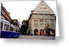 Bahnhofstrasse Zurich Greeting Card